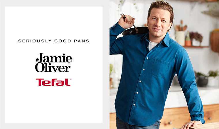 Seriously good pans. by Jamie Oliver. Get Inspired. Tefal.