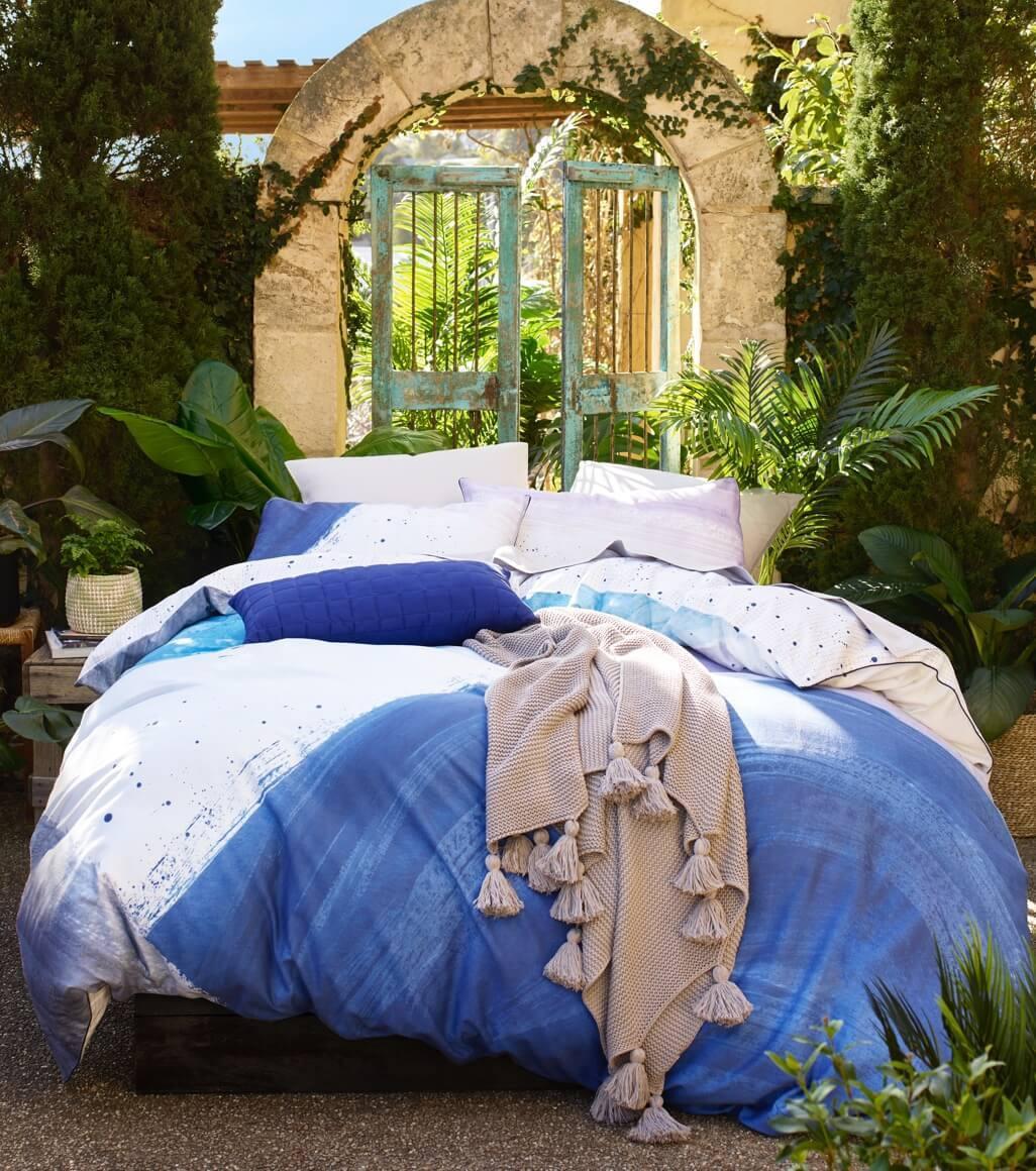 Lush bedroom scene
