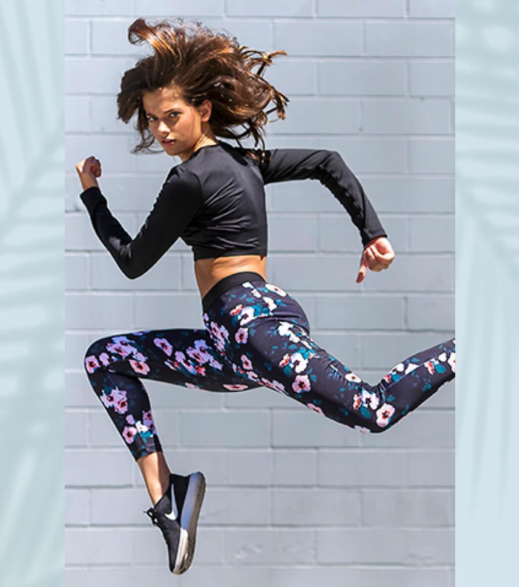 Girl running so fast she's flying
