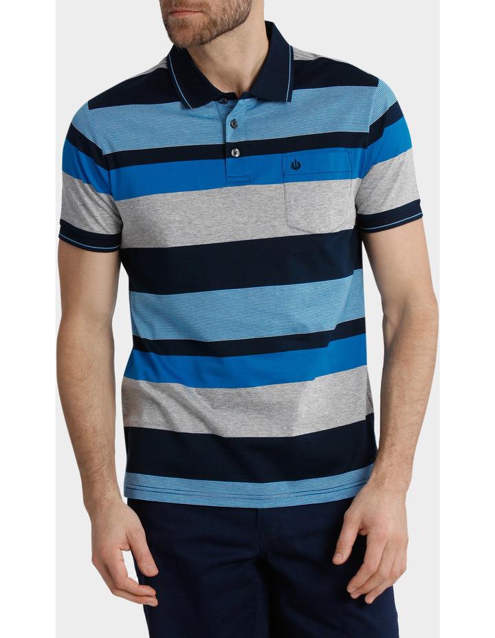 Short Sleeve Mercerised Stripe Polo image 1