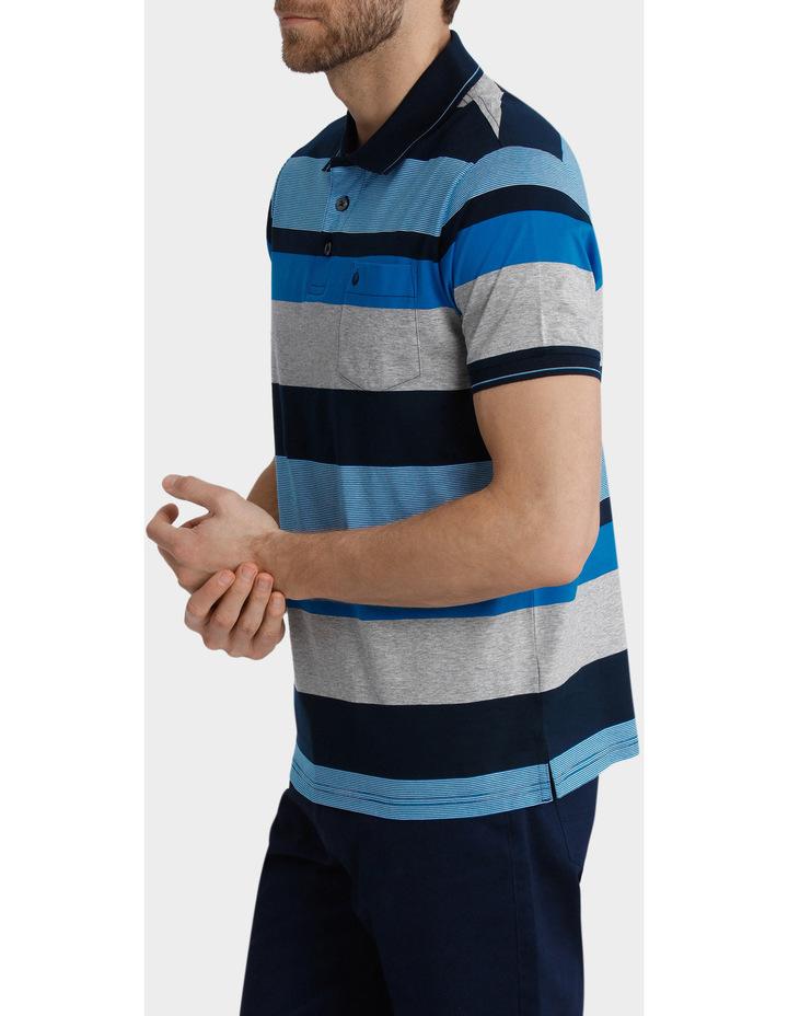 Short Sleeve Mercerised Stripe Polo image 2