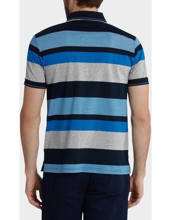Short Sleeve Mercerised Stripe Polo image 3