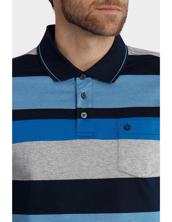 Short Sleeve Mercerised Stripe Polo image 4