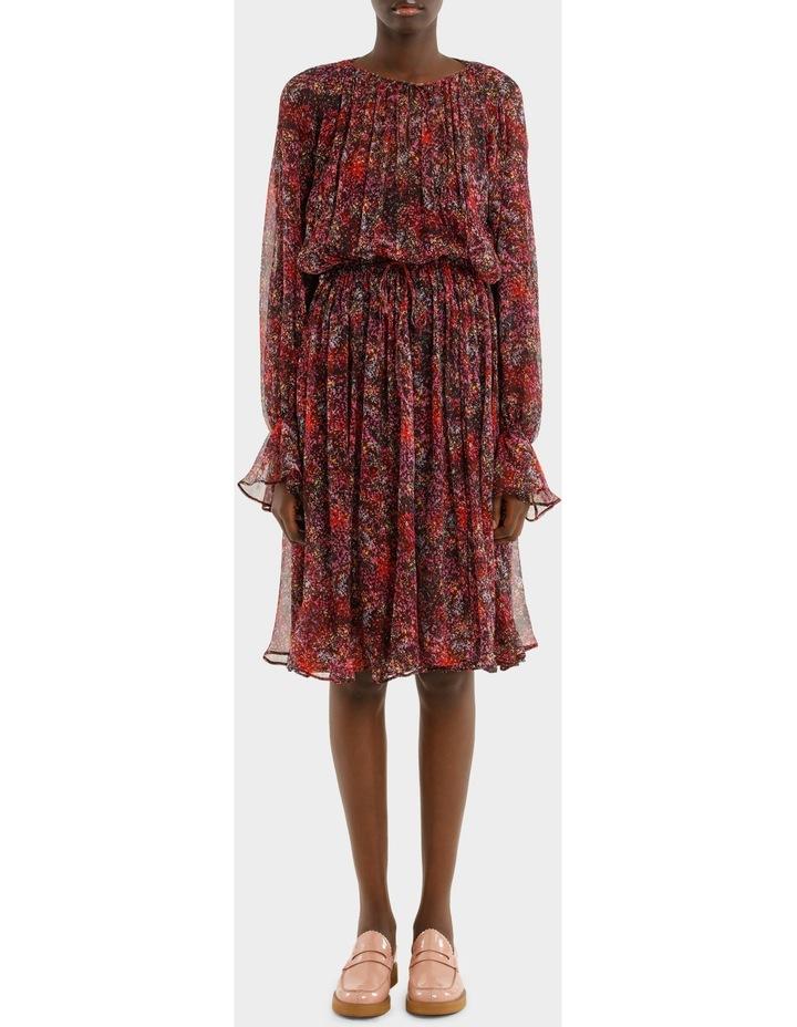 Long Sleeve Printed Dress image 1