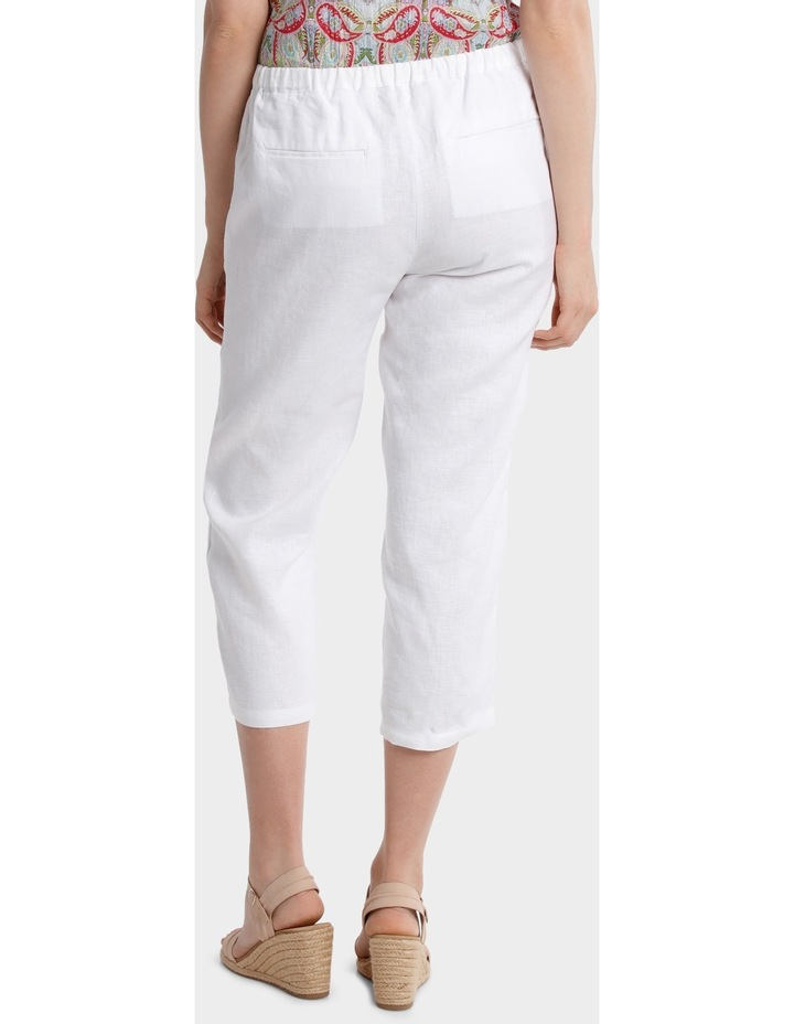 Washer Linen Cropped Pant image 3
