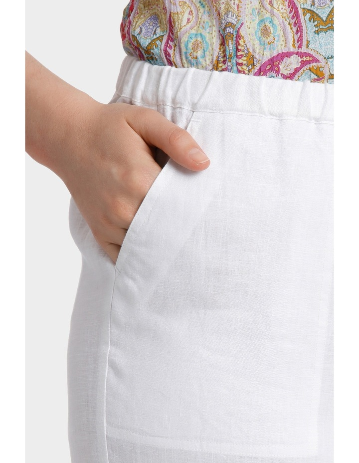 Washer Linen Cropped Pant image 4