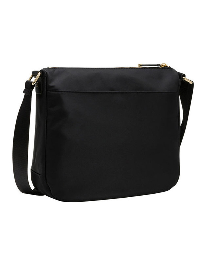 Dressy Nylon Messenger Bag Black/Gold image 2