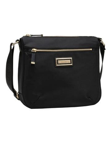 fd5a15925d Calvin KleinDressy Nylon Messenger Bag Black Gold. Calvin Klein Dressy  Nylon Messenger Bag Black Gold