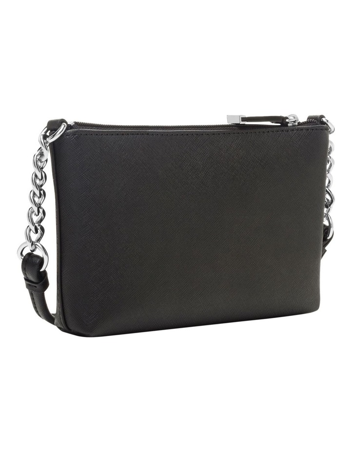 Saffiano Leather Chainlink Crossbody Bag image 2