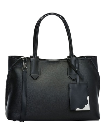 ddaf5e1e0de Calvin KleinH8Jar9Cs_Black/Silver Jacky Double Handle Tote Bag. Calvin Klein  H8Jar9Cs_Black/Silver Jacky Double Handle Tote Bag