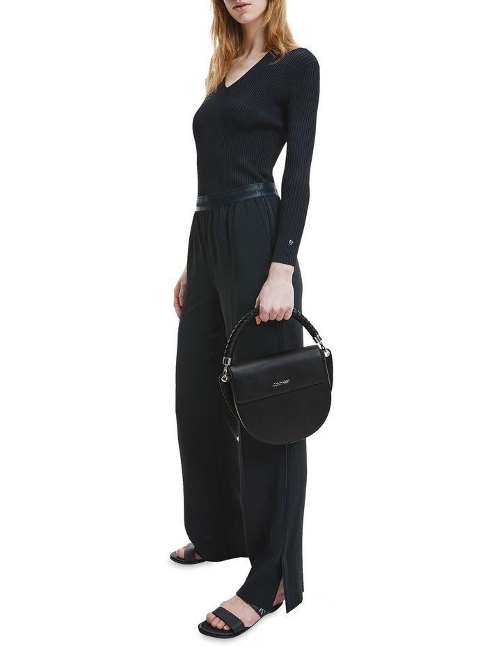 Black Md Saddle Crossbody Bag image 4