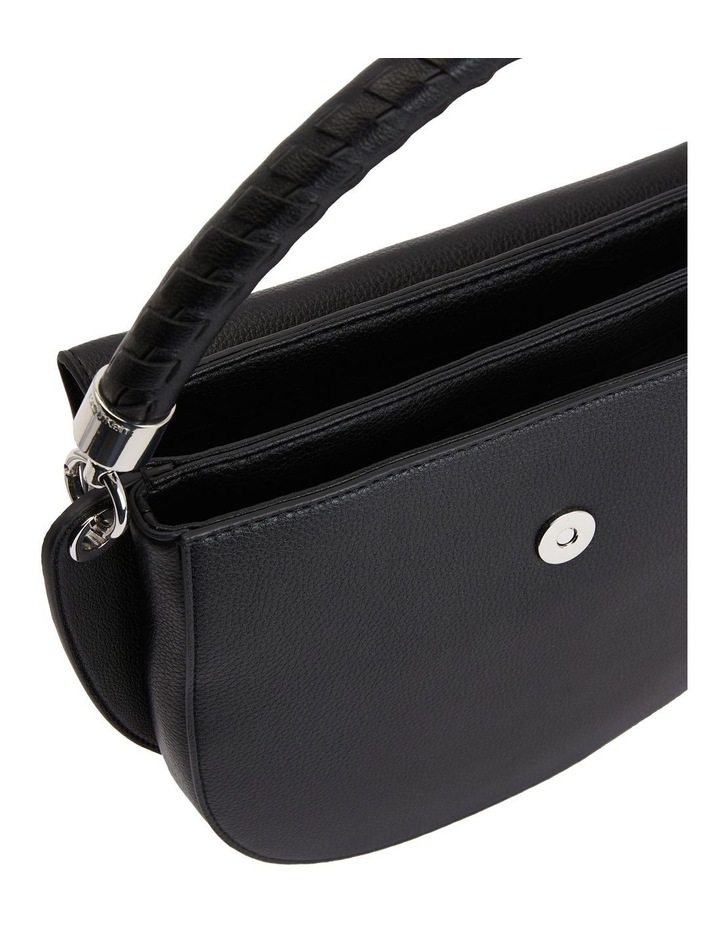 Black Md Saddle Crossbody Bag image 5
