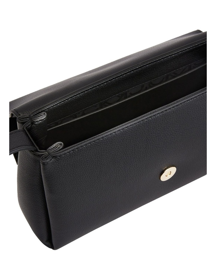 Hailey CK Black Flapover Crossbody Bag image 3
