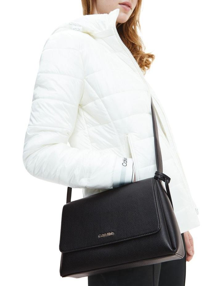 Hailey CK Black Flapover Crossbody Bag image 5