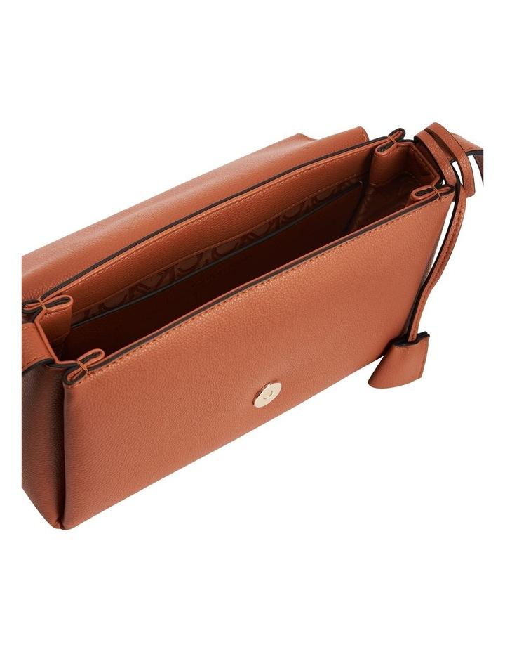 Hailey Cognac Flapover Crossbody Bag image 3