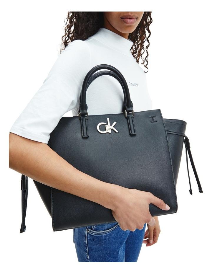 CK Black Zip Top Tote Bag image 4