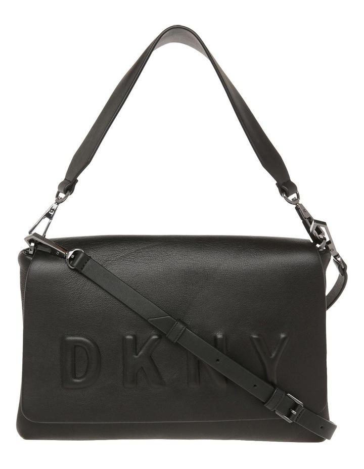 R461540602 Debossed Logo Flap Shoulder Bag image 1