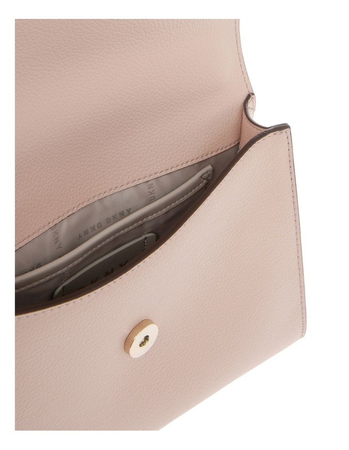 Von Beige Flap-Over Shoulder Bag image 5