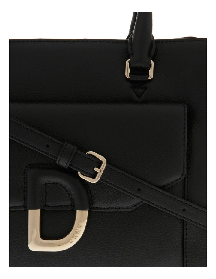 Von Black Double-Handle Satchel image 3