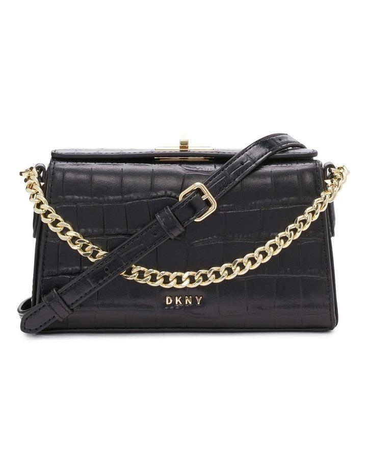 R12GQO35BGD Joanna Black/Gold Top Handle Crossbody Bag image 1
