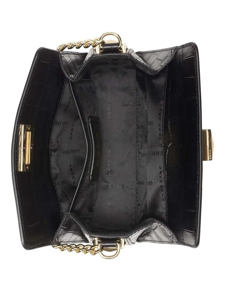 R12GQO35BGD Joanna Black/Gold Top Handle Crossbody Bag image 4