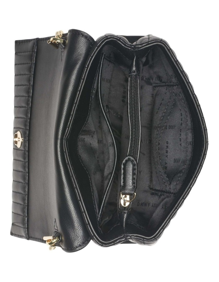 R12EBO03BGD Amelia Black/Gold Flapover Crossbody Bag image 4