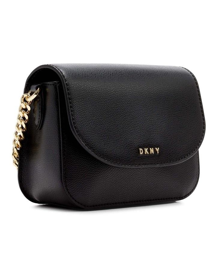 R12EHO16BGD Felicia Black/Gold Flapover Crossbody Bag image 3