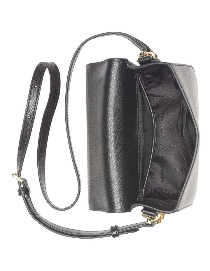 R12EHO16BGD Felicia Black/Gold Flapover Crossbody Bag image 4