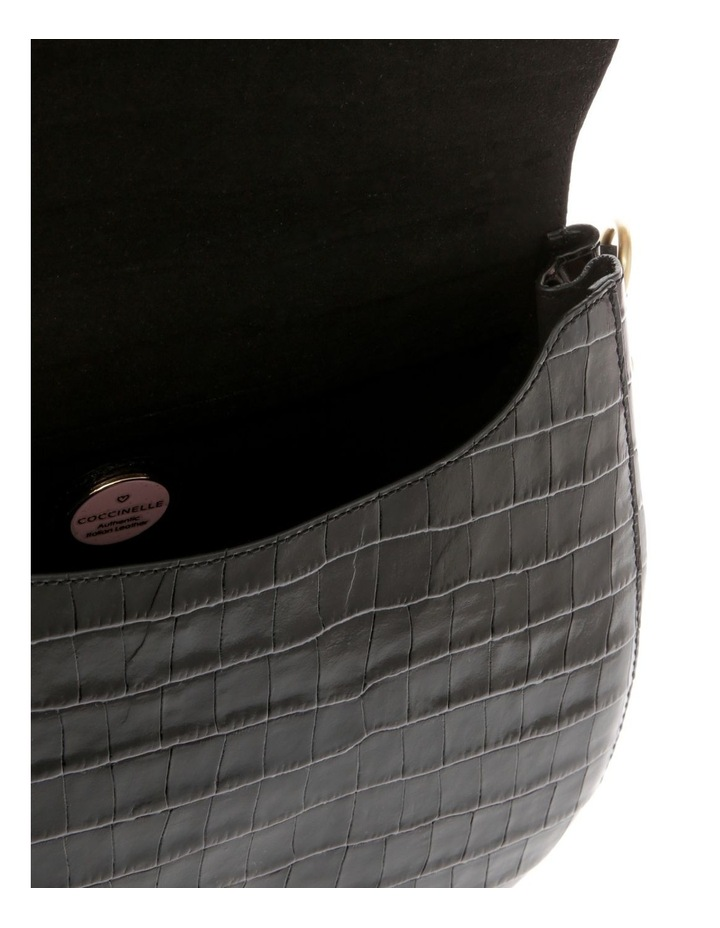 Zaniah Croco Flap Over Crossbody Bag image 4