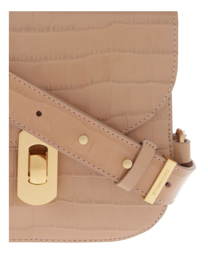 Zaniah Croco Flap Over Crossbody Bag image 3