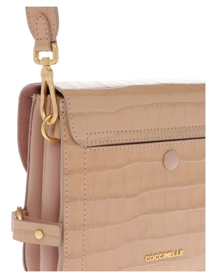 Zaniah Croco Flap Over Crossbody Bag image 4