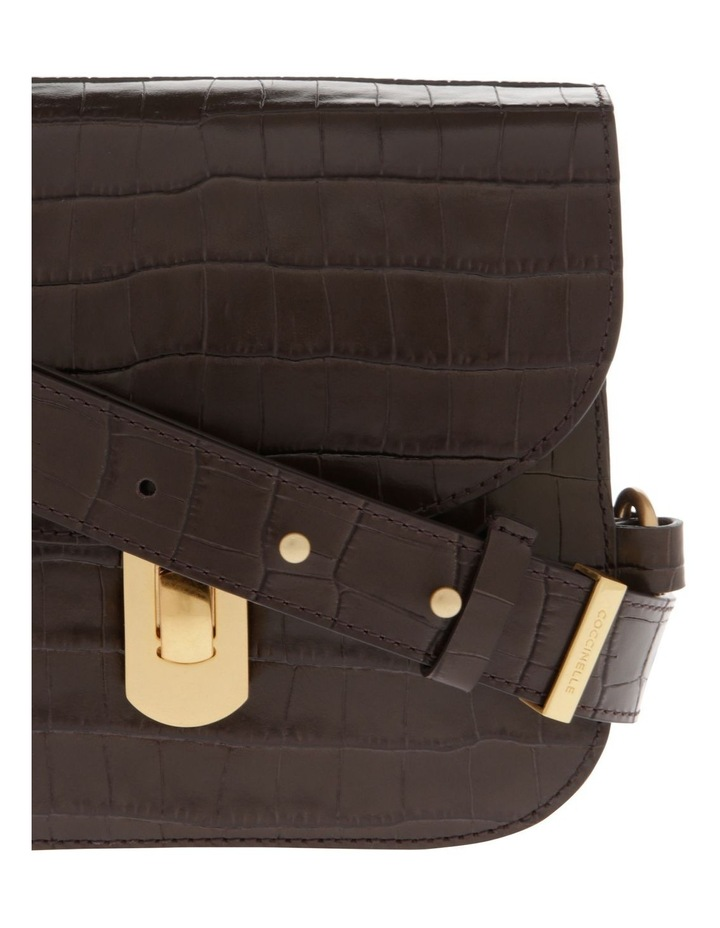 Zaniah Croco Flap Over Crossbody Bag image 3