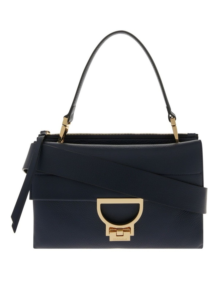 Arlettis Flap Over Navy Satchel image 1