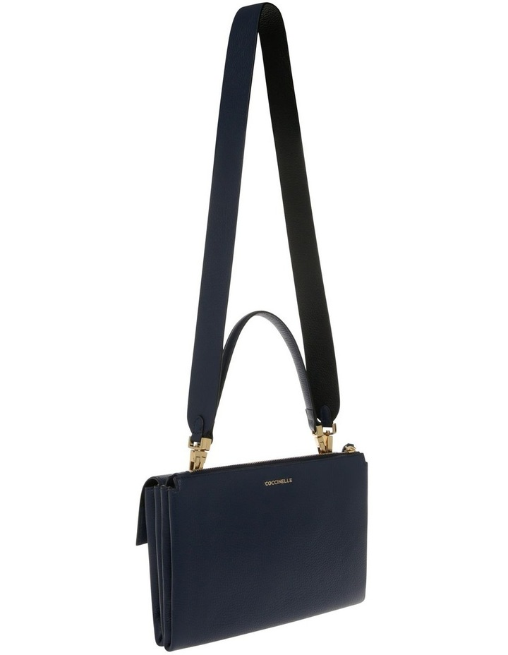 Arlettis Flap Over Navy Satchel image 2