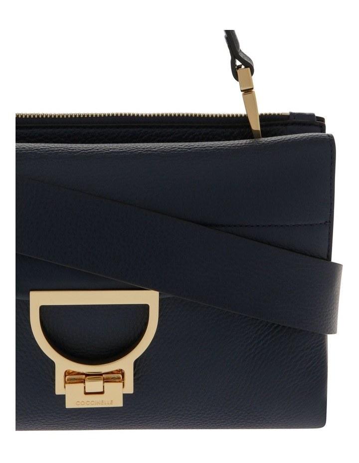 Arlettis Flap Over Navy Satchel image 3
