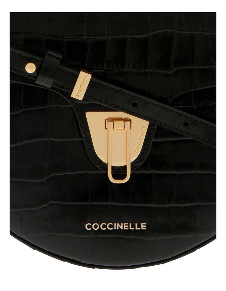 Beat Croco Flap Over Black Crossbody Bag image 3