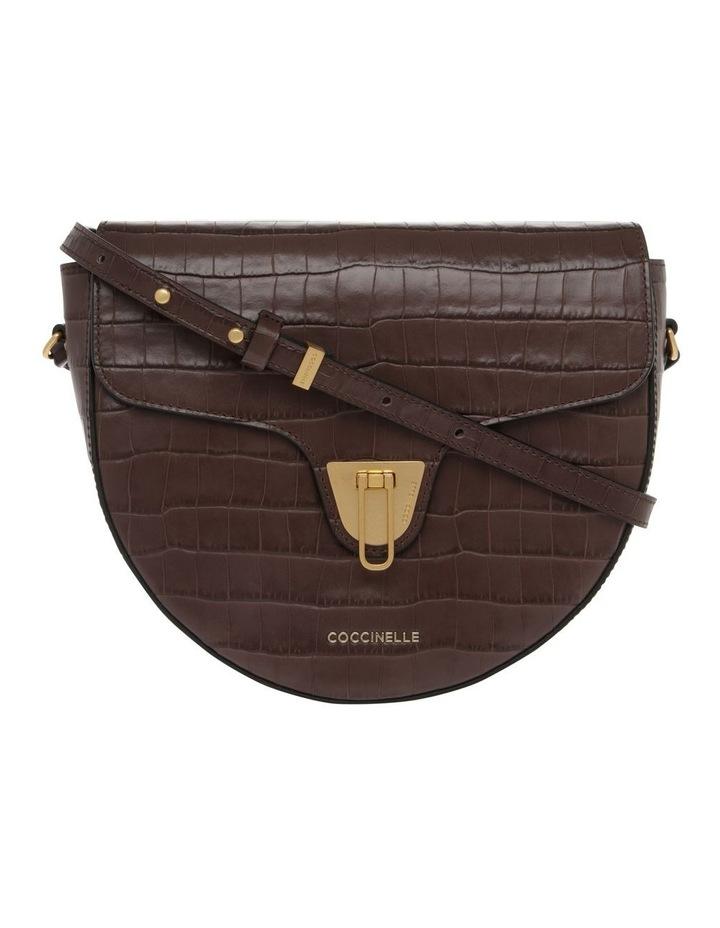 Beat Croco Flap Over Brown Crossbody Bag image 1
