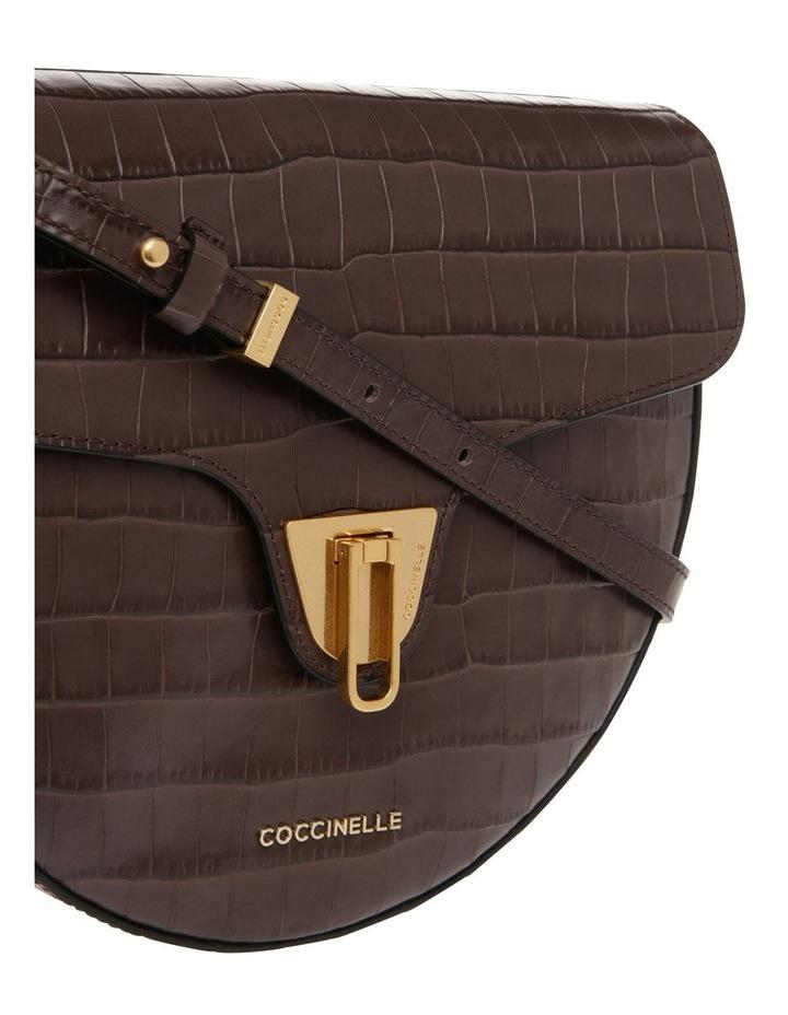 Beat Croco Flap Over Brown Crossbody Bag image 3