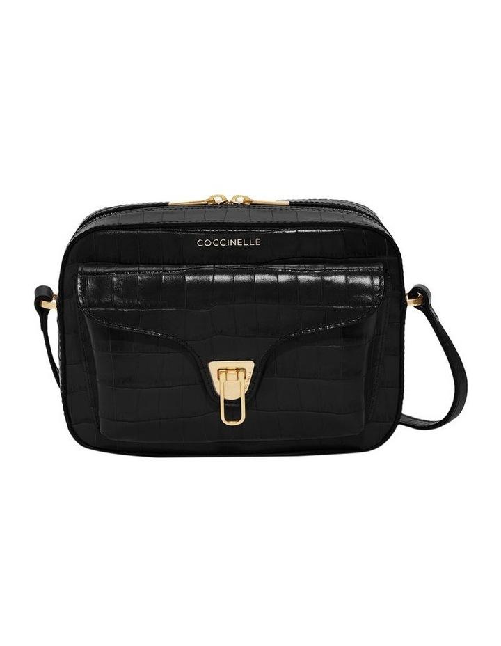 Beat Croco Zip Top Black Crossbody Bag image 1