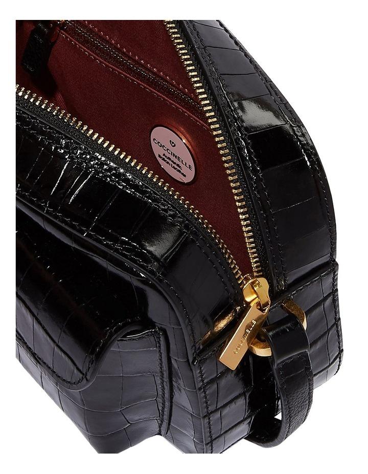 Beat Croco Zip Top Black Crossbody Bag image 4