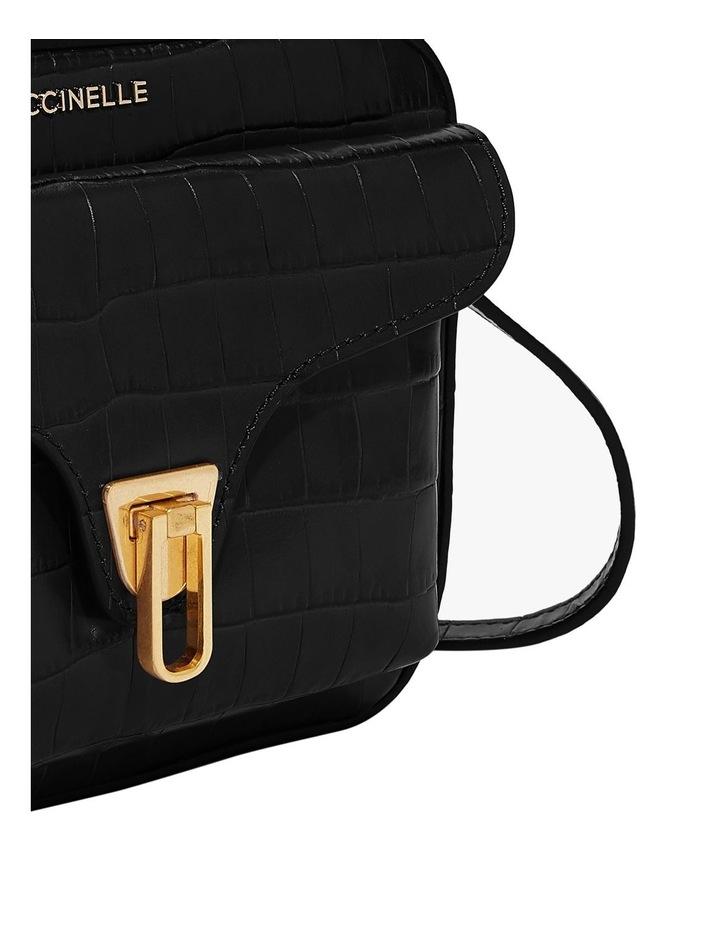 Beat Croco Zip Top Black Crossbody Bag image 5