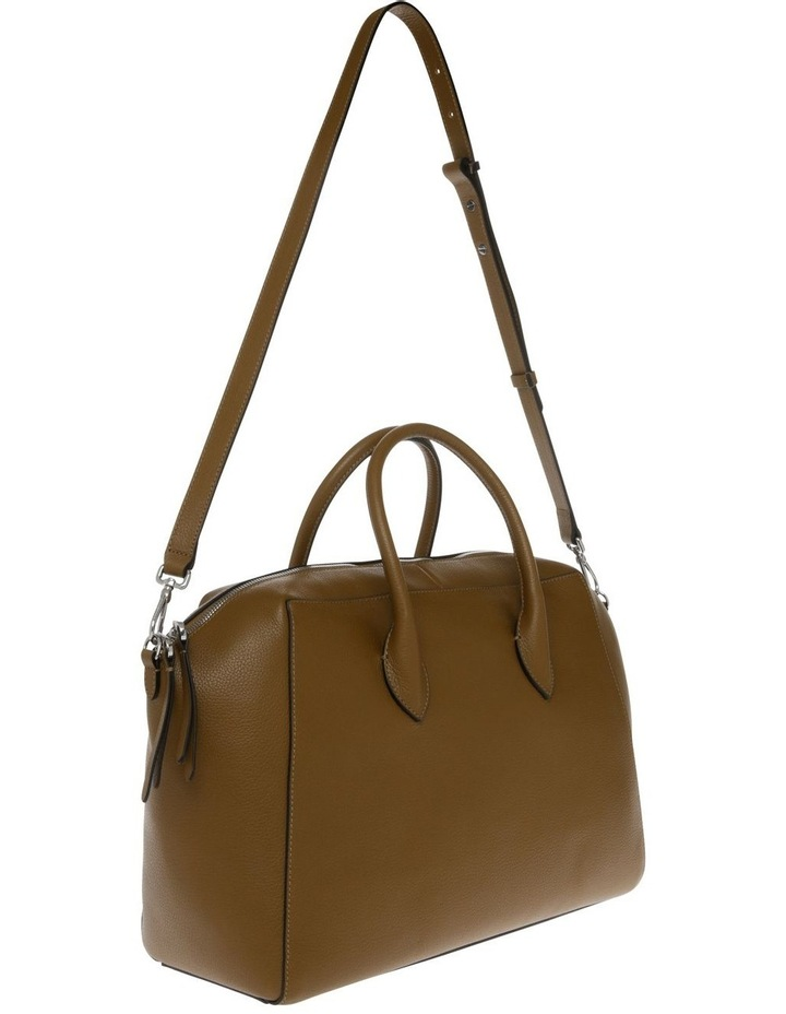Gwen Zip Top Brown Satchel image 2
