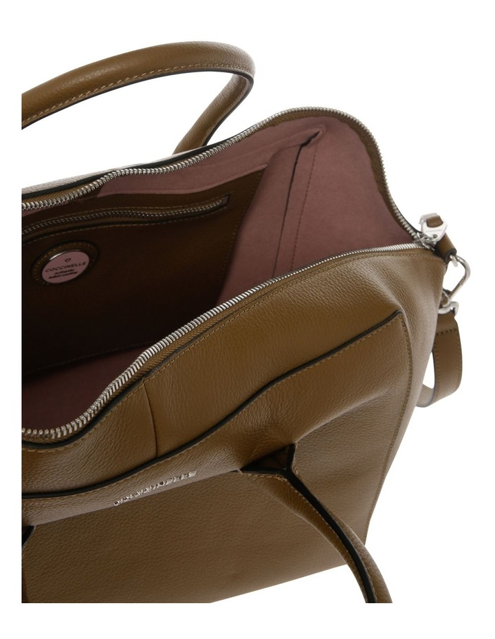 Gwen Zip Top Brown Satchel image 4