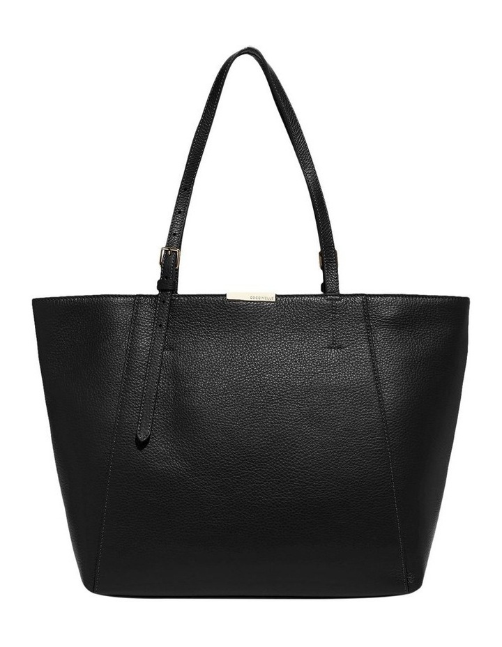 Cher Double Handle Black Tote Bag image 1