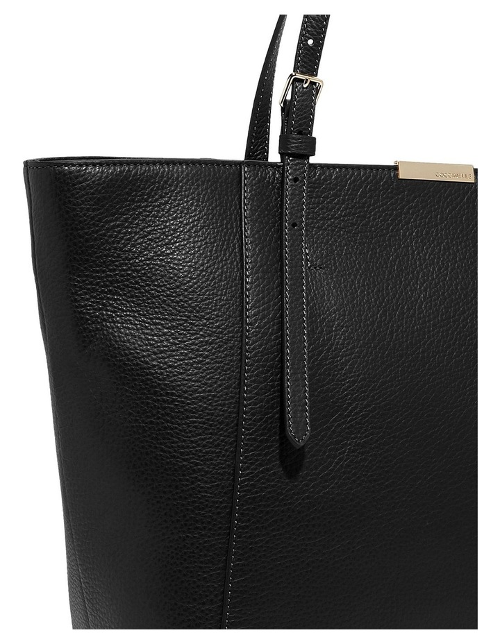 Cher Double Handle Black Tote Bag image 4