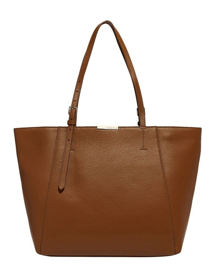 Cher Double Handle Brown Tote Bag image 1