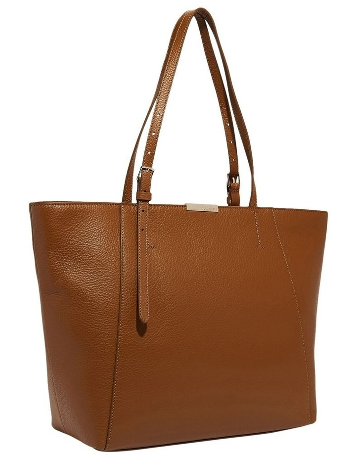 Cher Double Handle Brown Tote Bag image 3