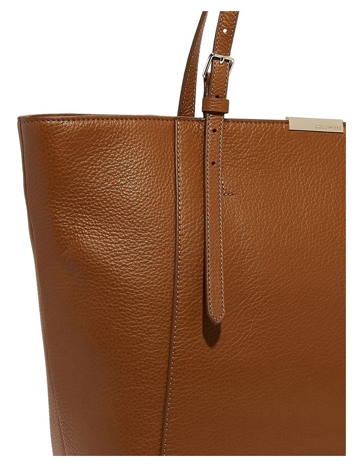 Cher Double Handle Brown Tote Bag image 5