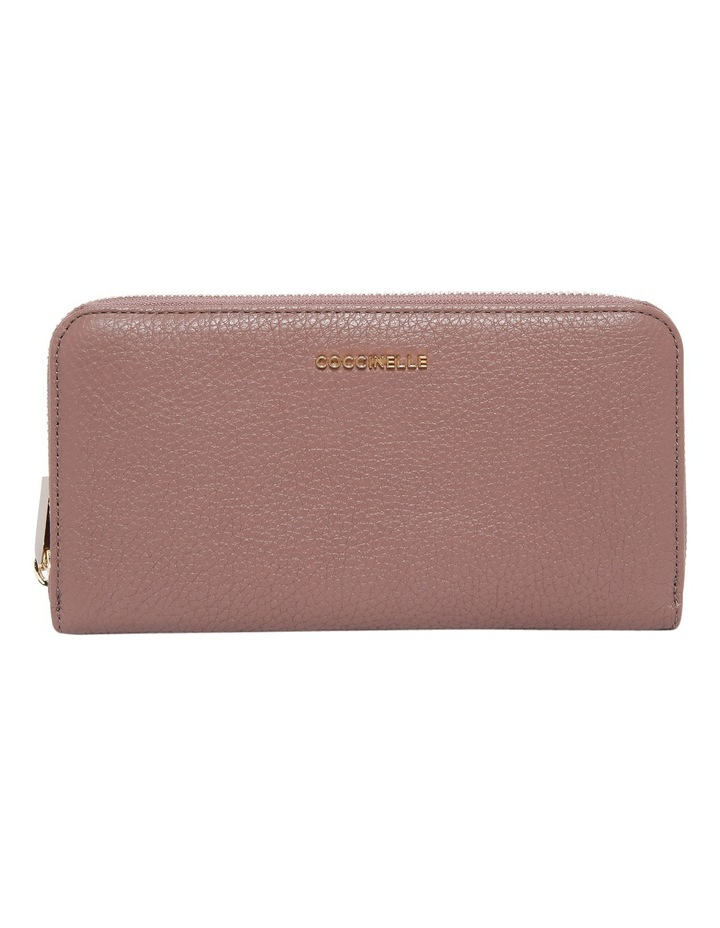 E2 CW5 11 04 01 Metallic Soft Zip Around Wallet image 1