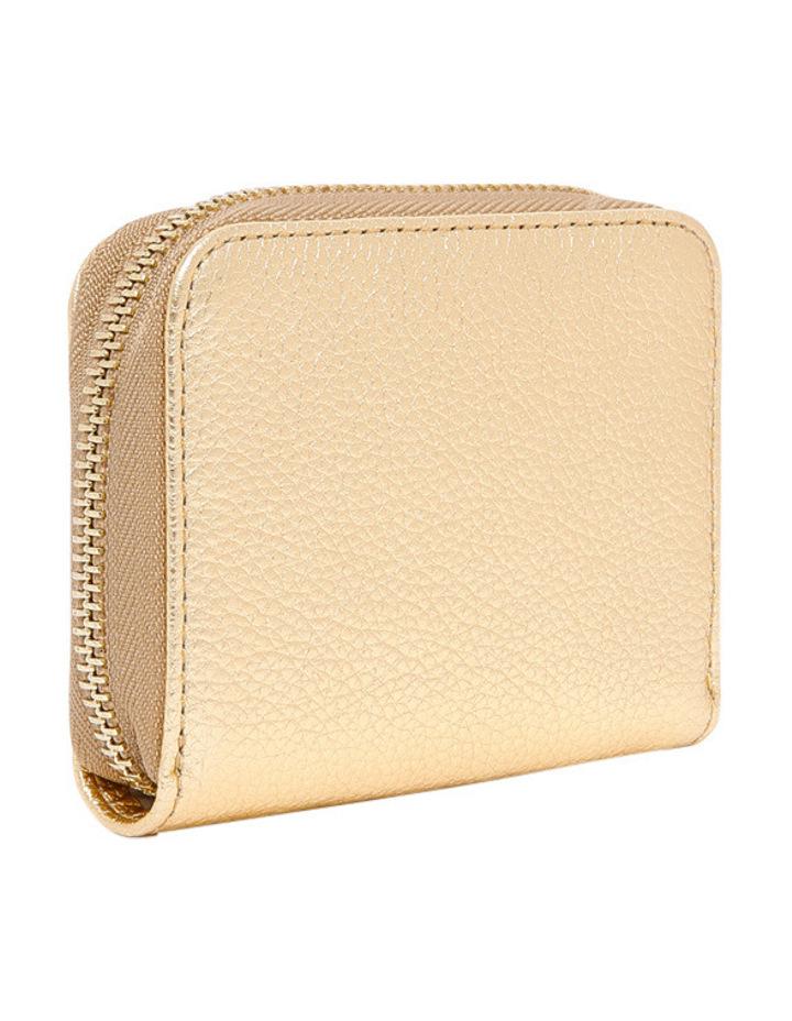 E2 CW5 19 25 01 Metallic Soft Zip Around Wallet image 2